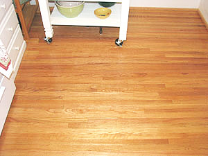 new hardwood floor