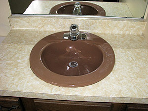 bathroom sink refinishing